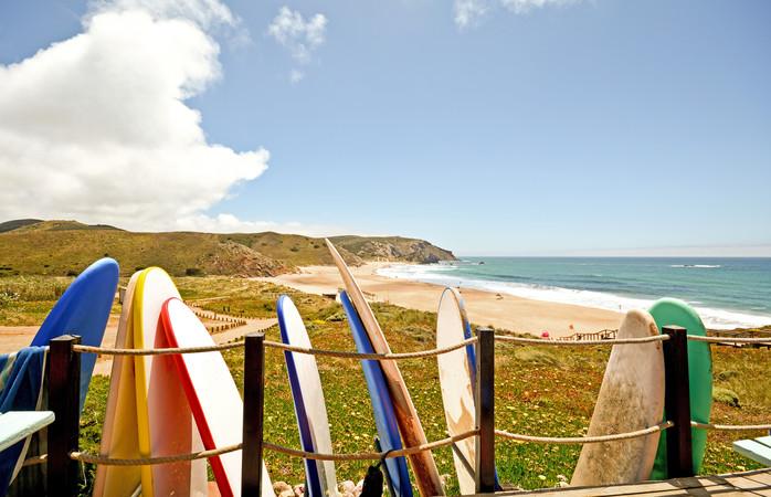Um dos melhores spots de surf do país.