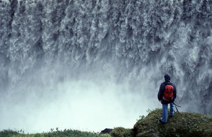 As Cataratas de Dettifoss na sua pose majestosa e poderosa