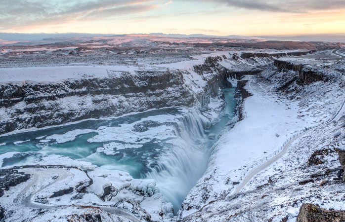 Surreais e inspiradoras – As cataratas de Gullfoss