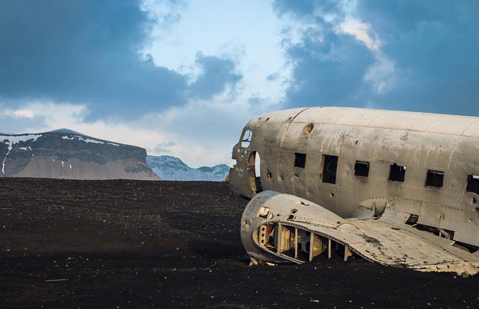 Os destroços do acidente de avião em Sólheimasandur é algo a testemunhar