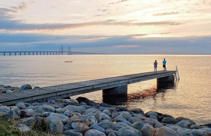 Uma maravilha de engenharia – a ponte de Øresund liga a Dinamarca e a Suécia