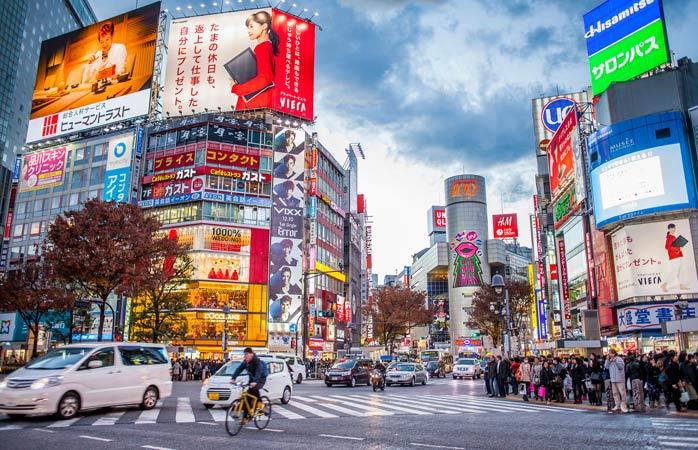 Fica a ver o mundo passar no Cruzamento de Shibuya