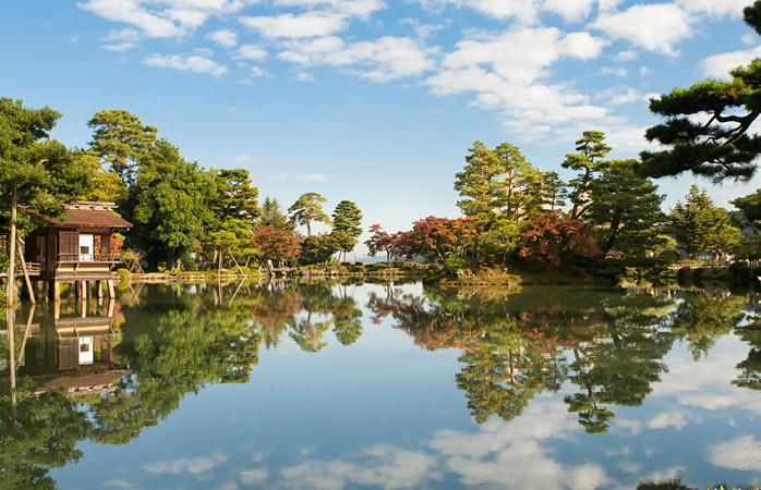 Serenidade total no Jardim Kenroku-en