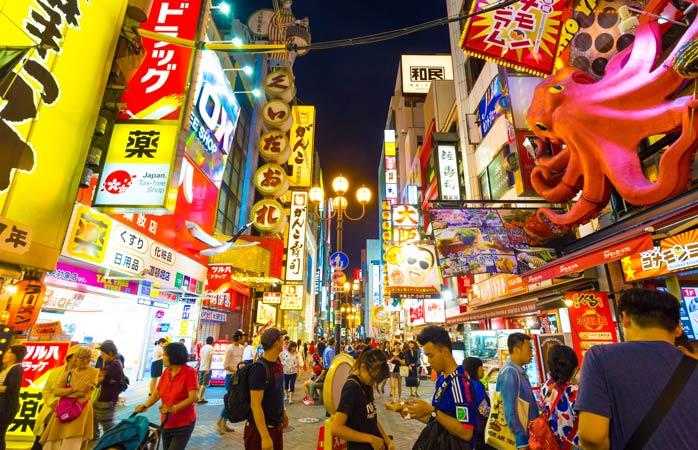 Absorve o caos de Dōtonbori em Osaka