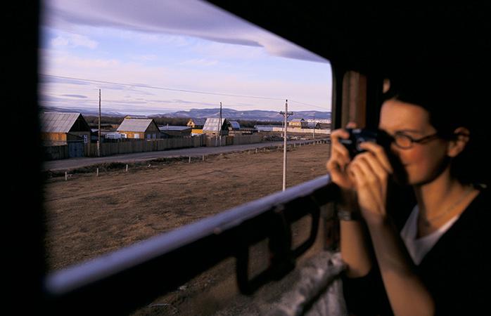 Paisagens do comboio Transiberiano entre Irkutsk e Ulan Ude