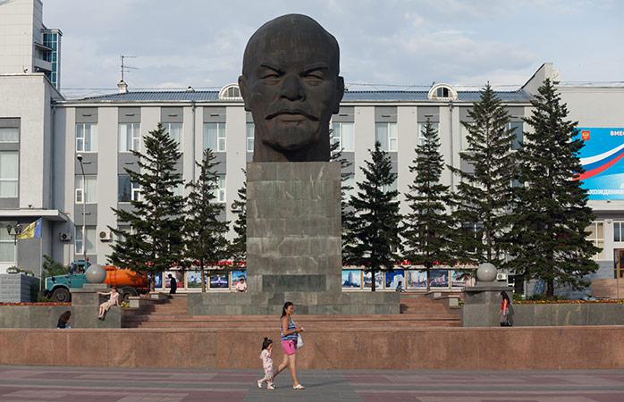 O busto de Lenine em Ulan Ude
