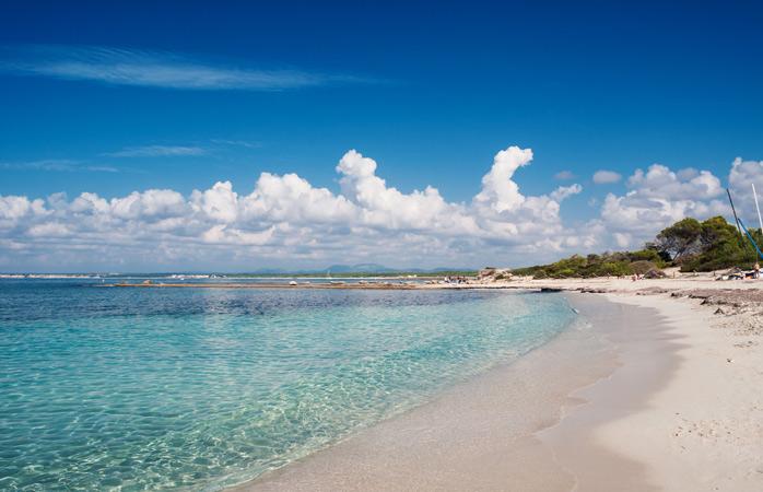 Uma visão de azul na Praia Es Trenc