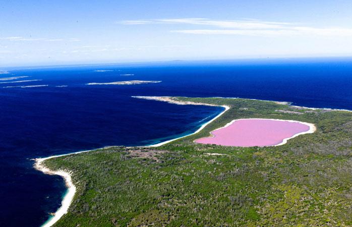 Mergulha no Lago Cor-de-Rosa da Austrália se te sentires corajoso