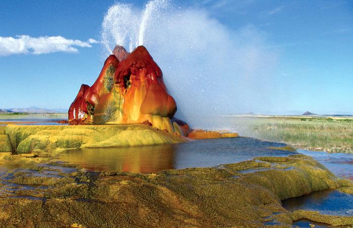 O Geiser Fly Ranch tem um dos espirrros mais caleidoscópicos do mundo