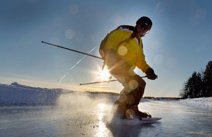 Faz tour skate na região mais escura, profunda e bonita da região nórdica