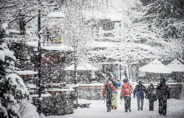 Whistler é como a Disneylândia das estâncias de ski com a aldeia mesmo ao lado das pistas