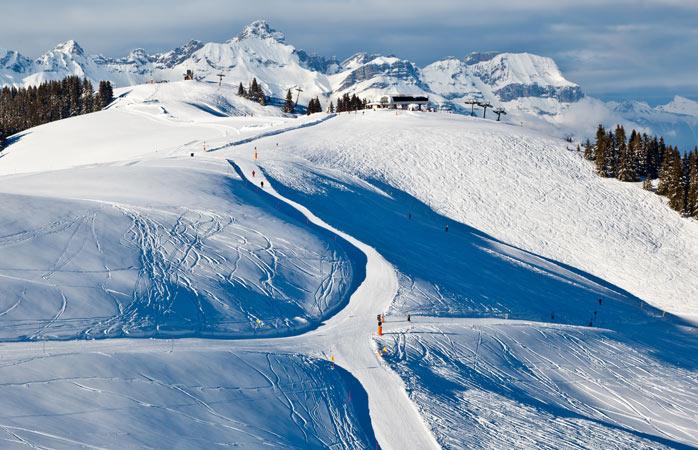 As pistas de ski sem trânsito de Megève