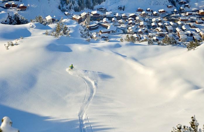 Tanto o ski como os hotéis, são luxuosos em Lech