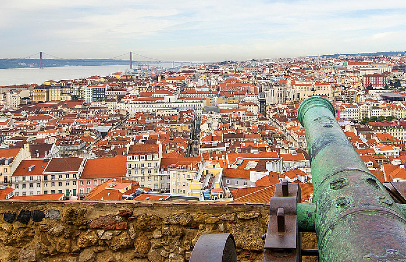 Lisboa desde o miradouro do Castelo de S. Jorge