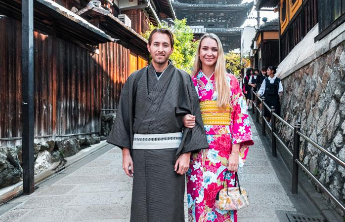 Faz como os locais... passeia por Quioto de quimono ou yukata