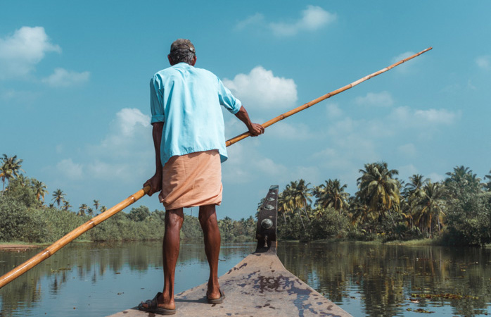 Navega pelos recantos escondidos de Kerala