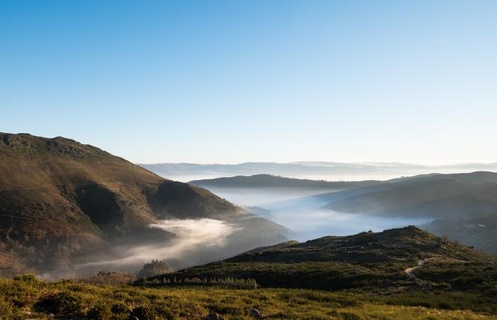 Repara nas paisagens naturais da Serra do Marão.