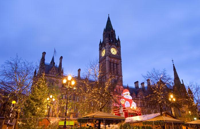 Espreita os mercados de Natal de Manchester