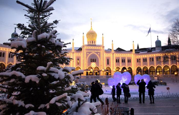 Tivoli – uma localização encantadora e idílica para um dos melhores mercados de Natal de Copenhaga