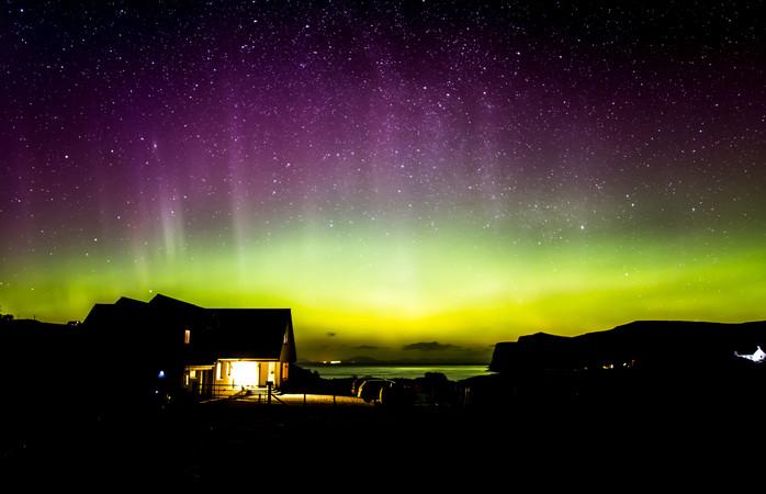 A Ilha de Skye proporciona lugares de primeira fila para ver o espetáculo de luzes da Natureza
