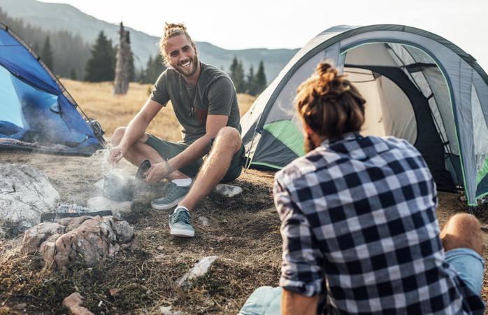Vais sentir a diferença quando acampares