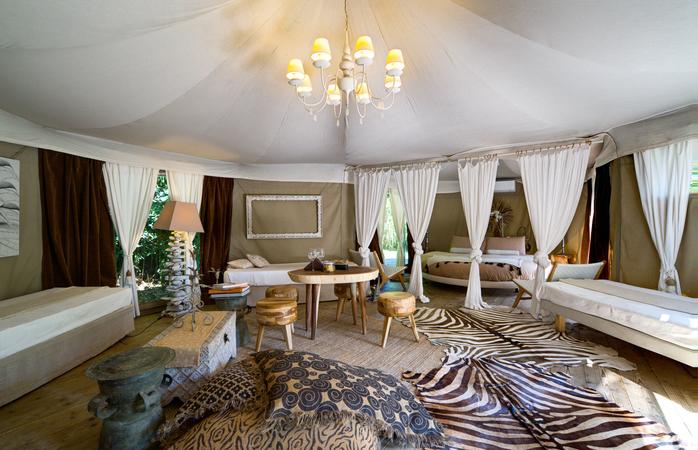 Descontração e romance combinam perfeitamente com o Glamping Canonici Di San Marco. Foto: Gampling Canonici Di San Marco