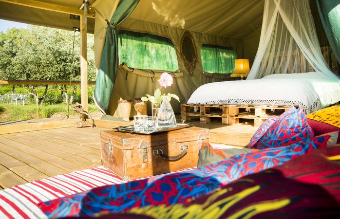 A tenda Kanimambo é o símbolo de descontração.