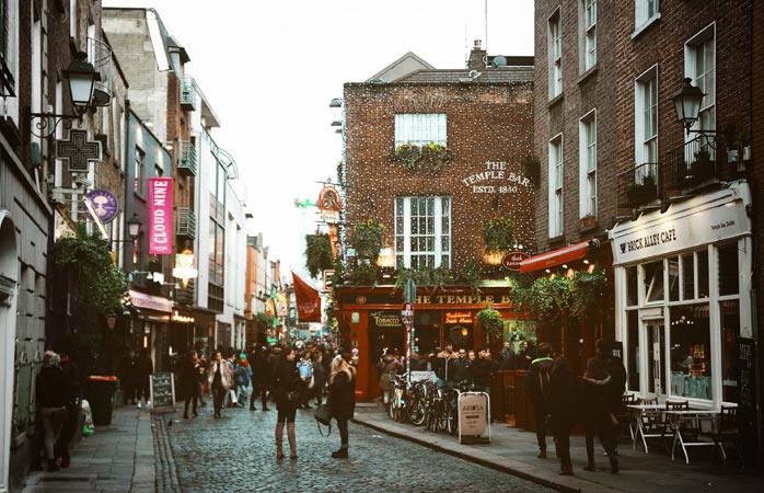 O centro cultural molhado e maluco de Dublin, Temple Bar