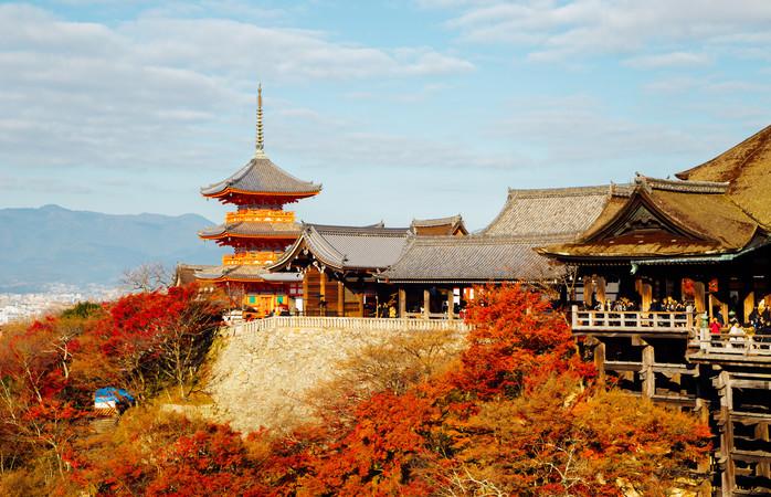 O templo Kiyomizu Dera em Quioto