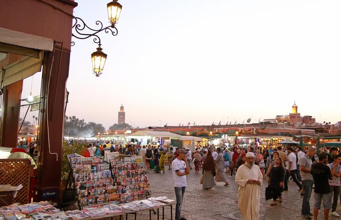 Aproveita bastante a Medina de Marraquexe