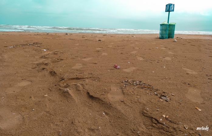 Uma das praias no Marrocos