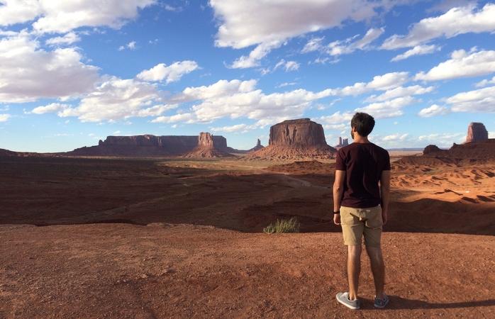 Uma das vistas durante a viagem