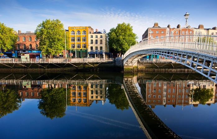 Um dia solarengo em Dublin, é algo para aproveitar.