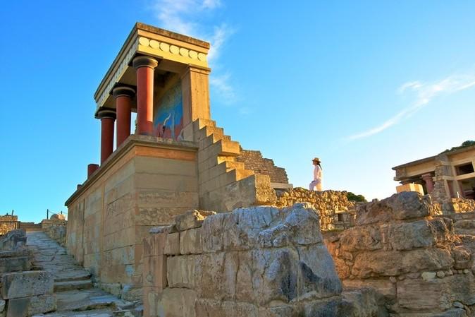 O Palácio de Cnossos no Museu Arqueológico de Heraclião em Creta