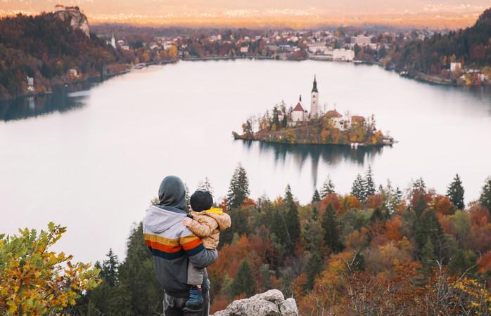 Não dá para resistir à vista deslumbrante de Bled.