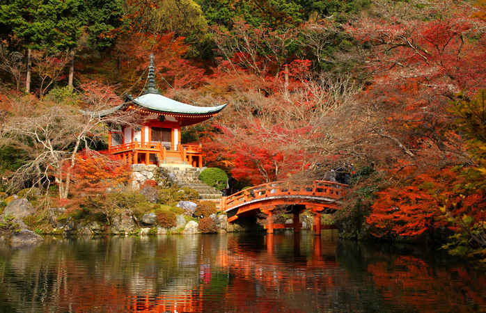 As cores maravilhosas de Quioto.