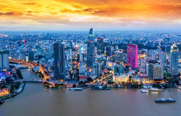 Vê o sol nascer a 1 de Janeiro na efervescente Cidade de Ho Chi Minh.