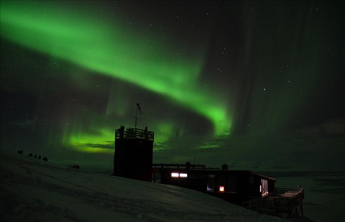 A Estação Aurora no Monte Nuolja.