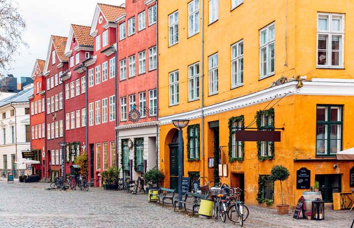 O charme das casas históricas de Copenhaga...