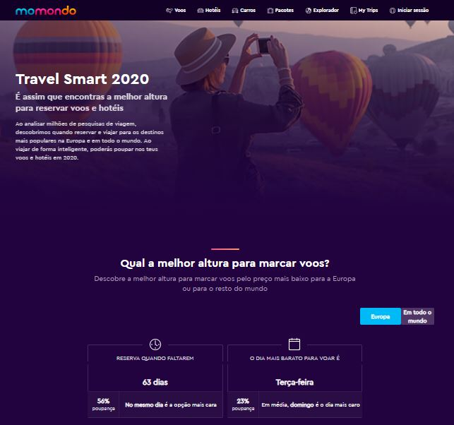 Travel Smart 2020 momondo
